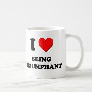 Amo el ser triunfante taza de café
