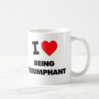 Amo el ser triunfante tazas de café