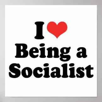 AMO EL SER UN SOCIALISTA - .PNG PÓSTER