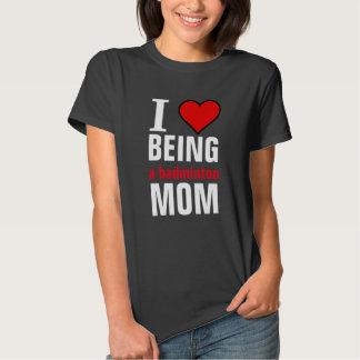 Amo el ser una mamá del bádminton remera