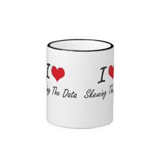 Amo el sesgar de los datos taza de dos colores