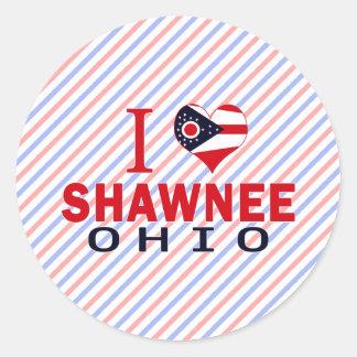 Amo el Shawnee Ohio Pegatinas