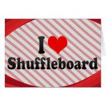 Amo el Shuffleboard Tarjetas