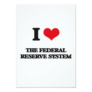 """Amo el sistema de Federal Reserve Invitación 5"""" X 7"""""""
