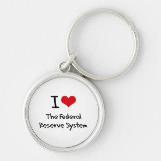 Amo el sistema de Federal Reserve Llavero Personalizado