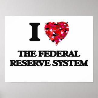 Amo el sistema de Federal Reserve Póster