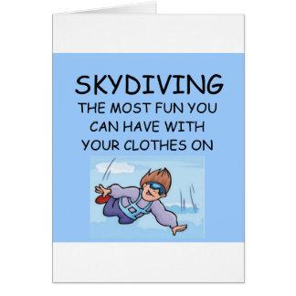 amo el skydiving tarjeta de felicitación