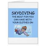 amo el skydiving tarjetón