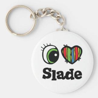 Amo el Slade del corazón Llaveros