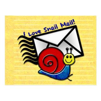 ¡Amo el snail mail la postal
