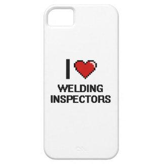 Amo el soldar con autógena de inspectores iPhone 5 Case-Mate protectores