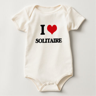 Amo el solitario trajes de bebé