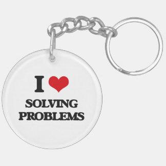 Amo el solucionar de problemas llavero redondo acrílico a doble cara