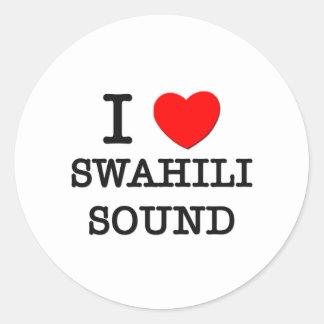 Amo el sonido del suajili pegatinas redondas