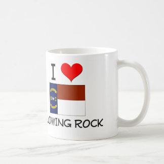 Amo el soplar de la roca Carolina del Norte Taza