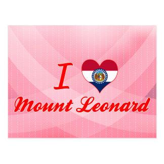 Amo el soporte Leonard, Missouri Tarjeta Postal