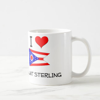 Amo el soporte Sterling Ohio Taza Básica Blanca