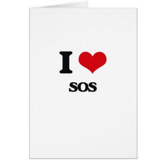 Amo el SOS Tarjeta De Felicitación