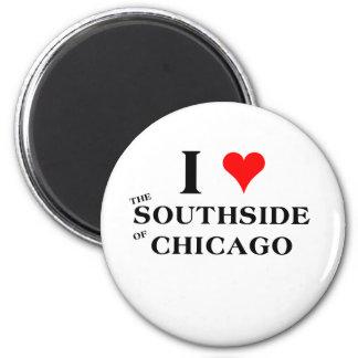 Amo el Southside de Chicago Imán Redondo 5 Cm