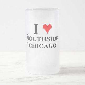 Amo el Southside de Chicago Taza De Cristal