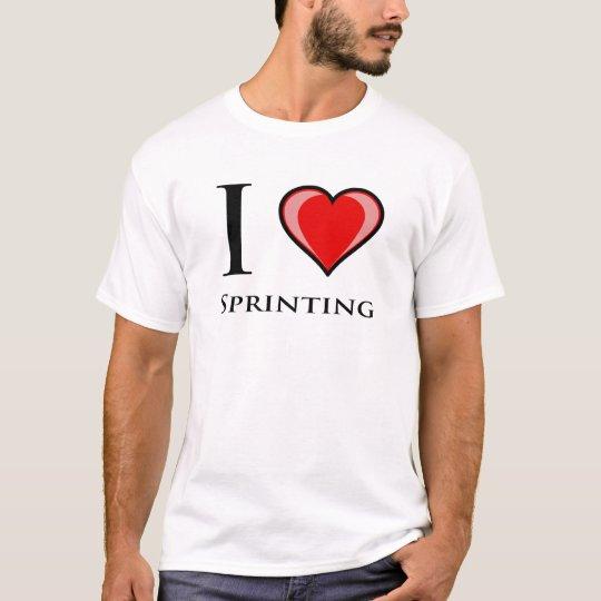 Amo el Sprinting Playera