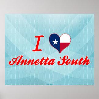 Amo el sur de Annetta, Tejas Poster