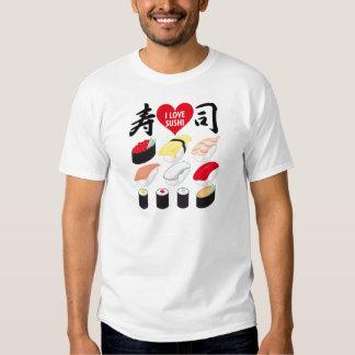 Amo el sushi camisas