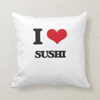 Amo el sushi cojin