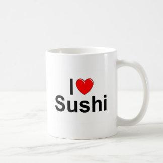 Amo el sushi (del corazón) taza de café