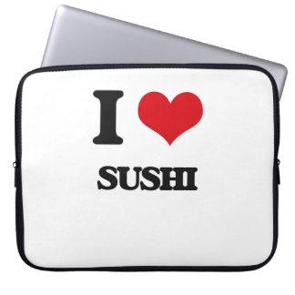 Amo el sushi fundas portátiles