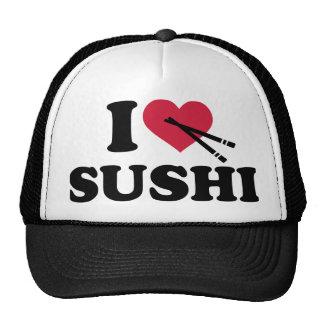 Amo el sushi gorras de camionero
