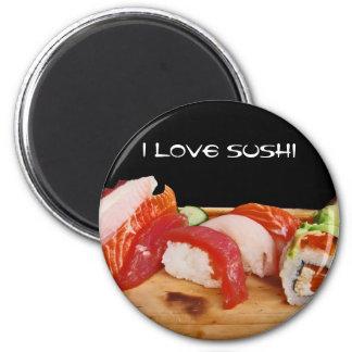 Amo el sushi imán redondo 5 cm