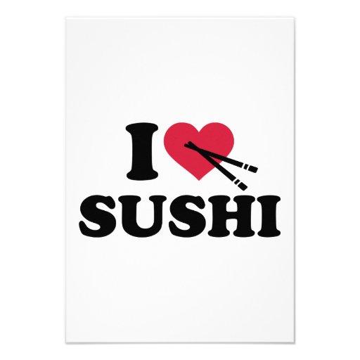 Amo el sushi comunicado personalizado