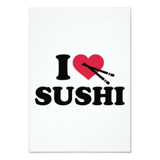 """Amo el sushi invitación 3.5"""" x 5"""""""