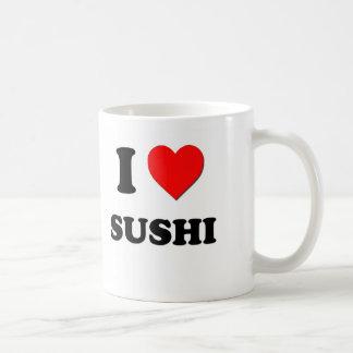 Amo el sushi (la comida) taza