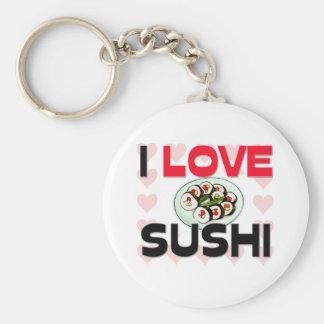 Amo el sushi llaveros