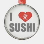 Amo el sushi ornaments para arbol de navidad
