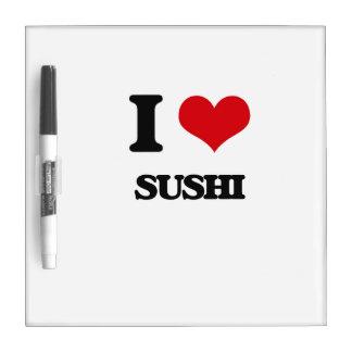 Amo el sushi pizarra blanca