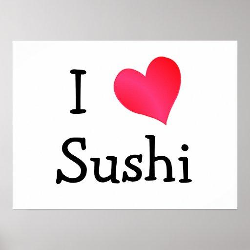 Amo el sushi posters
