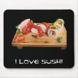 Amo el sushi tapete de ratones