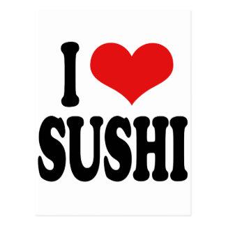 Amo el sushi tarjetas postales