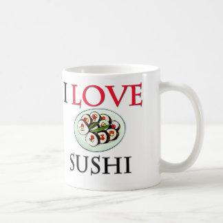 Amo el sushi tazas de café