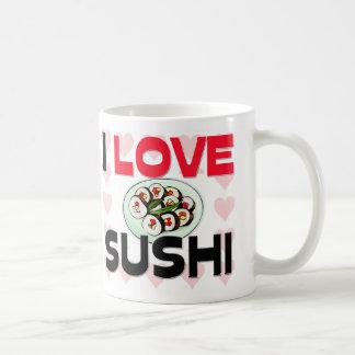 Amo el sushi taza
