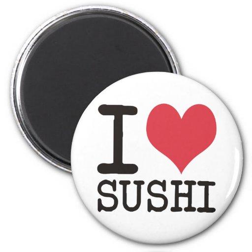 ¡Amo el sushi - vino - los productos y los diseños Imán