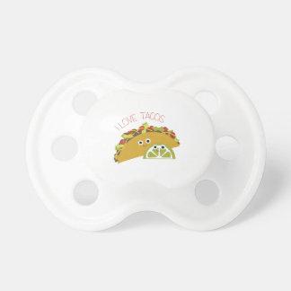 Amo el Tacos Chupetes Para Bebes