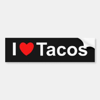Amo el Tacos (del corazón) Pegatina Para Auto