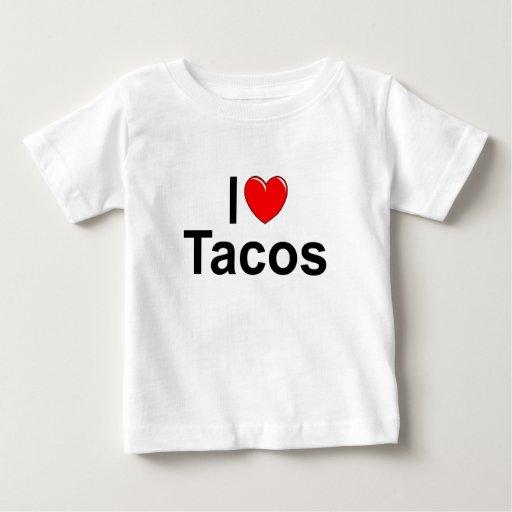 Amo el Tacos (del corazón) Playera De Bebé