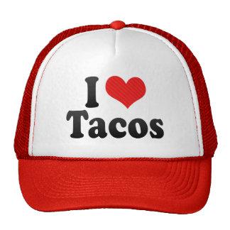 Amo el Tacos Gorros Bordados