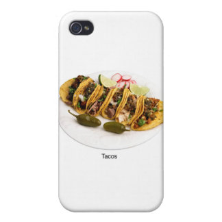 amo el tacos iPhone 4/4S carcasas