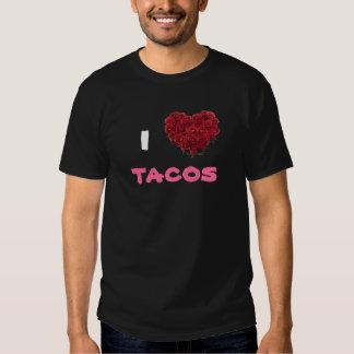 Amo el Tacos rosado Polera